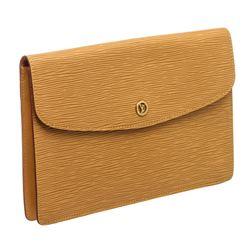 Louis Vuitton Camel Epi Leather Montaigne Clutch Bag