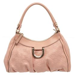 Gucci Pink Guccissima Leather D Ring Shoulder Bag