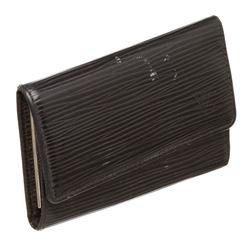 Louis Vuitton Black Epi Leather 6 Key Holder