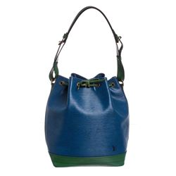 Louis Vuitton Blue Green Epi Leather Noe GM Drawstring Shoulder Bag