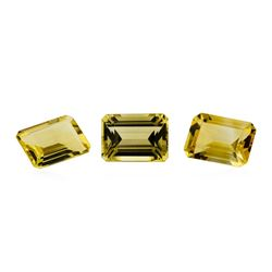 19.49 ctw.Natural Emerald Cut Citrine Quartz Parcel of Three