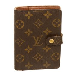 Louis Vuitton Monogram Canvas Leather Small Ring Agenda Cover