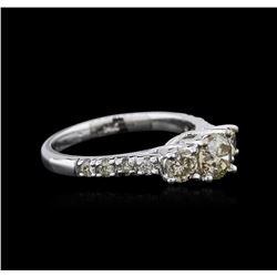14KT White Gold 1.30 ctw Diamond Ring