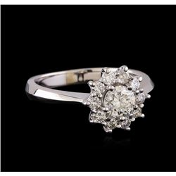 0.84 ctw Diamond Ring - 14KT White Gold