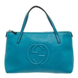 Gucci Blue Leather Soho Mini Tote Bag