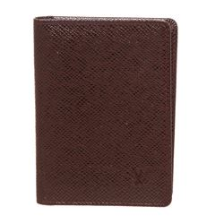 Louis Vuitton Burgundy Taiga Leather ID Holder Wallet