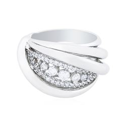 14KT White Gold 0.57 ctw Diamond Ring