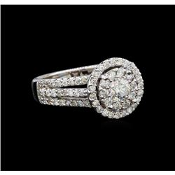 14KT White Gold 1.35 ctw Diamond Ring