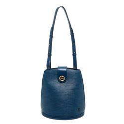 Louis Vuitton Blue EPi Leather Cluny Shoulder Bag