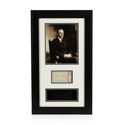 Calvin Coolidge Signed Cut Display PSA Certified