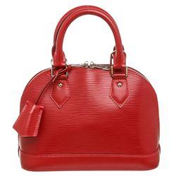 Louis Vuitton Red Epi Leather Alma BB Bag
