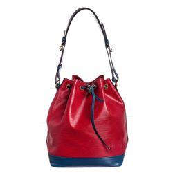 Louis Vuitton Red Blue Epi Leather Noe GM Drawstring Shoulder Bag