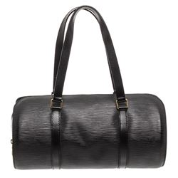 Louis Vuitton Black Epi Leather Soufflot Shoulder Bag Handbag