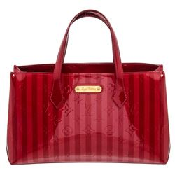 Louis Vuitton Red Pomme D'Amour Rayures Vernis Leather Wilshire PM Bag