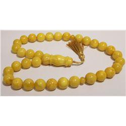 Natural Antique Amber Islamic Prayer Tasbih 112 Grams