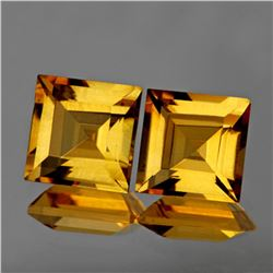 Natural Princess Golden Yellow Citrine Pair 8.00 MM- FL