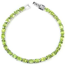 NATURAL APPLE GREEN PERIDOT Bracelet