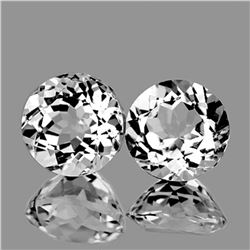 Natural Top Luster White Topaz Pair 12.00 MM -FL