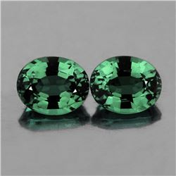 Natural AAA Teal Bluish Green Sapphire Pair 6x5 MM - FL