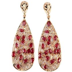 Natural MARQUISE Red Ruby Earrings