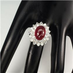 Stunning Oval Red Ruby 13x10 MM Ring