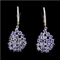 Natural Untreated Blue Tanzanite 4x3 MM Earrings