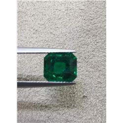 Natural Vivid Green Columbian Emerald 3.32 Cts - GRS