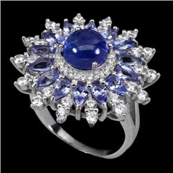 Natural Top Blue Violet Tanzanite 34.61 Ct  Ring