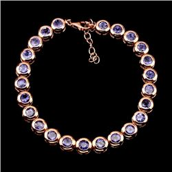 Natural Rich Blue Violet Tanzanite 86.35 CtBracelet