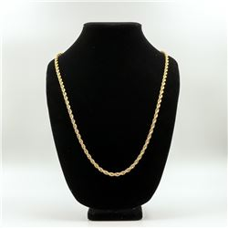 AWESOME 45 GRAM 14 KT GOLD PLATED ROPE CHAIN.
