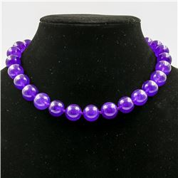 BEAUTIFUL LARGE 517 CTTW AMETHYST NECKLACE