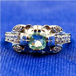 Beautuful 1.5 Ct Ice Green Diamond Ring