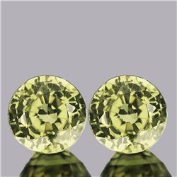 Natural Canary Yellow Sapphire Pair - FL