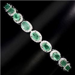 Natural Columbian Emerald Bracelet