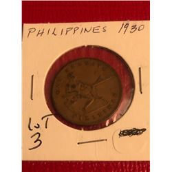 1930 Phillipines Coin Nice Early Coin