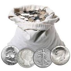 Bag of 2 Silver Half Dollars Pre 1964 1916 to 1964 Unsearched out of Estate Bucket