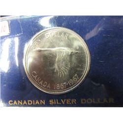 1967 CANADA GOOSE SILVER DOLLAR