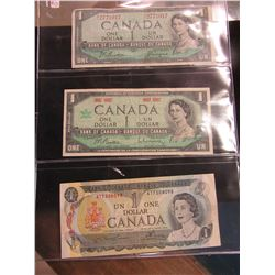 1954 & 1967 CENTIANNIAL & 1973 CANADA $1 BILLS