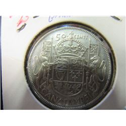 1951 KING GEORGE V NEWFOUNDLAND 20 CENT SILVER COIN