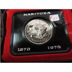 1970 PROOF CASED MANITOBA DOLLAR