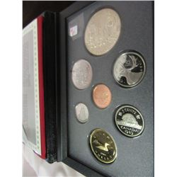1989 PROOF CASED CANADA DOUBLE DOLLAR SILVER COIN SET