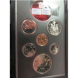 1980 PROOF CASED CANADA COIN SET