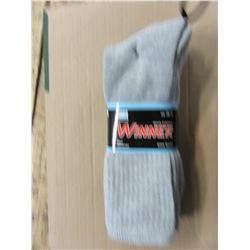 NEW - MEN'S GREY SOCKS (3 PAIR) - PER BUNDLE