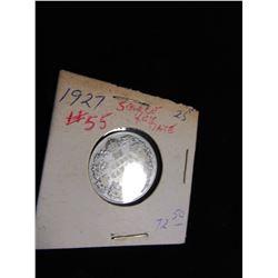 1927 SCARCE KEY DATE CANADA SILVER QUARTER