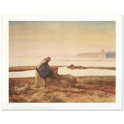 "William Nelson, ""Mussel Digger"" Limited Edition Lithograph, Numbered and Hand Signed by the Artist."