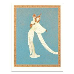 "Erte (1892-1990), ""Tanagra Turquoise"" Limited Edition Serigraph, Numbered and Hand Signed with Certi"