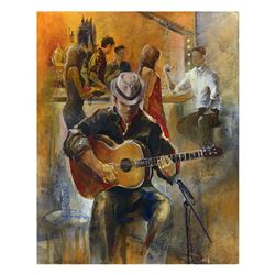 "Lena Sotskova, ""Lounge Singer"" Hand Signed, Artist Embellished Limited Edition Giclee on Canvas with"