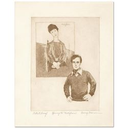 "George Crionas (1925-2004), ""Homage to Modigliani"" Limited Edition Etching, Numbered and Hand Hand S"
