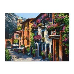 "Howard Behrens (1933-2014), ""Village Hideaway"" Hand Embellished Limited Edition on Textured Board, N"