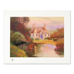 """Thomas Kinkade (1958-2012), """"Pastel Cottage"""" Limited Edition Offset Lithograph, Numbered and Signed"""